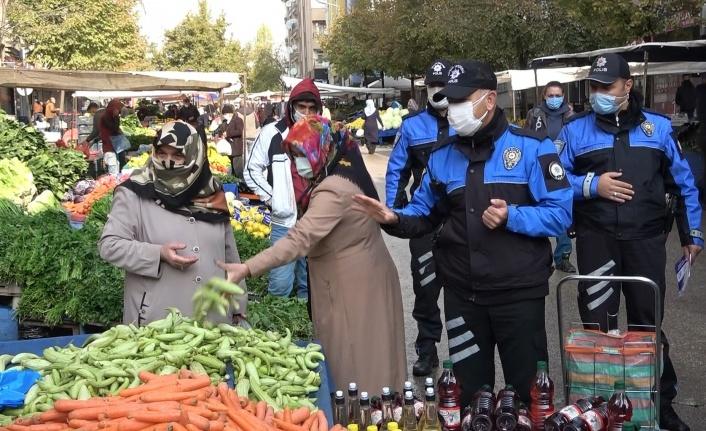 Elazığ'da polisten Covid-19 denetimi