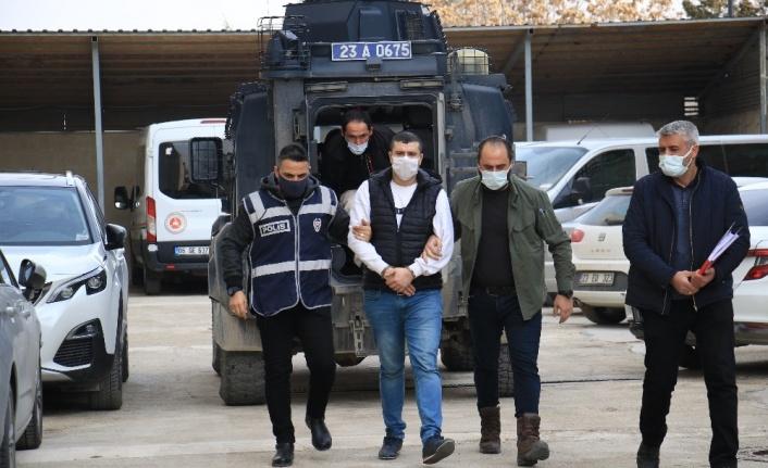 Elazığ'da cinayet zanlısı adliyeye sevk edildi