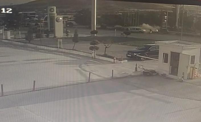 Elazığ'da 5 kişinin yaralandığı kaza güvenlik kamerasında
