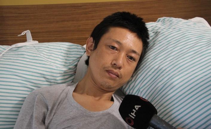"""Bıçaklanan Japon turistin yeni görüntüleri ortaya çıktı: """"Elazığlılar bana çok yardım etti"""""""