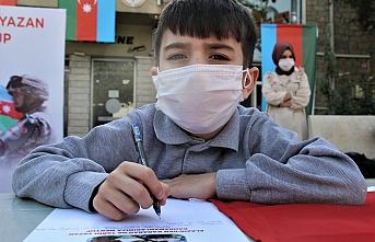 Azerbaycanlı çocuktan cephedeki babasına mektup
