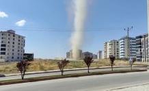 Elazığ'da mini 'hortum' kameralara yansıdı