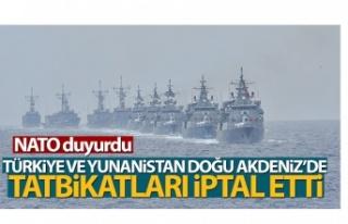 NATO: Türkiye ve Yunanistan tatbikatları iptal etti