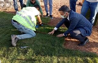 Yeşilyurt Belediyesi tarımsal üretim ve ar-ge sahasında...