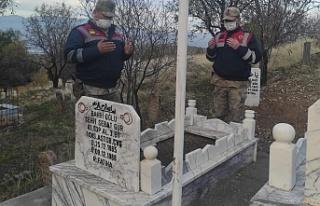 Jandarma'nın Şehit Kabirlerini Ziyaretleri Devam...