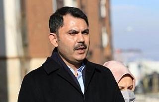 """Bakan Kurum: """"Elazığ ve Malatya'da dönüşüm..."""