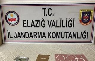 Elazığ'da uyuşturucu ile mücadele 2 şüpheli...