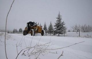 Elazığ'ın ilçelerinde kar etkili oldu, 20 köy...