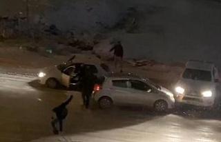 Elazığ'da kar yağışı etkili oldu, rampada...