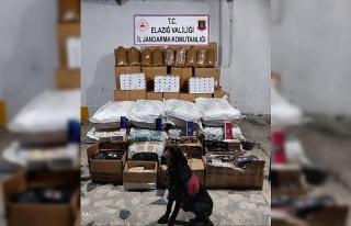 Elazığ'da 315 bin TL'lik kaçak tütün ürünleri...