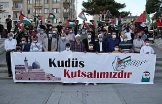 Elazığ'dan İsrail'e tepki, Filistin'e destek...