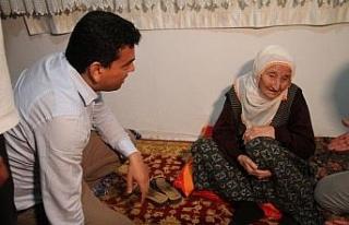 Depremden etkilenen köyleri gezen Kaymakam Şahin:...