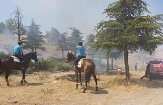 Doğum günü yangınla bitti, atlı jandarmalar fark...