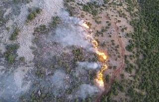 Orman yangınını söndürme çalışmaları çok...