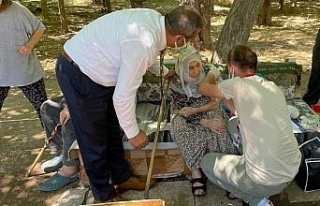 101 yaşındaki nine aşı olmak istedi, il sağlık...