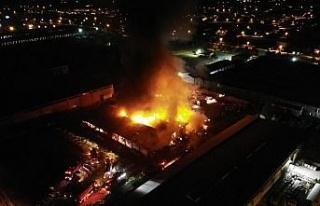 Elazığ OSB'de yangın, çok sayıda ekip müdahale...