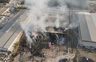 Elazığ OSB'deki tesis yangını 8 saatin sonunda...