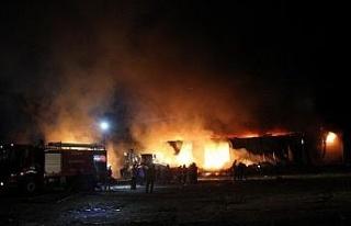 """""""Elazığ OSB'deki tesis yangını, kontrol..."""