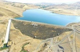 Elazığ'da Tatar Göleti sulaması inşaat çalışmaları...