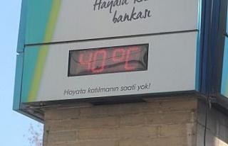 Termometrelerin 40 dereceyi gösterdiği Elazığ'da...