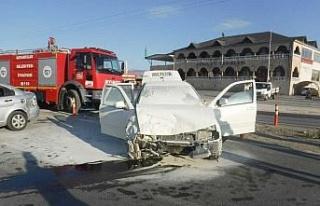 Elazığ'da 4 kişinin yaralandığı trafik kazası...
