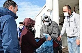 Konteyner kentteki depremzedelere destek