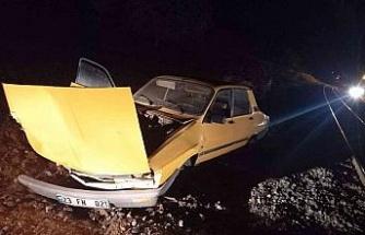 Elazığ'da tren otomobile çarptı: 2 yaralı