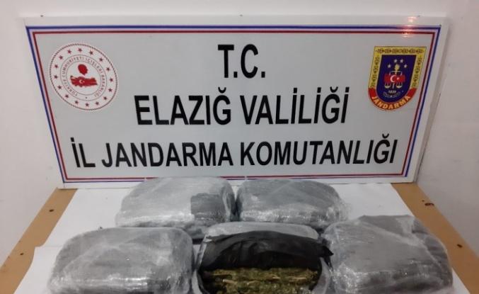 Ankara'ya gönderilen uyuşturucu Elazığ'da yakalandı