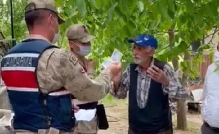 Emekli maaşı çalındı, jandarma aynı gün bulup getirdi